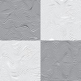 Abstrakt begrepp avriven grå bakgrundsvektoruppsättning Stock Illustrationer