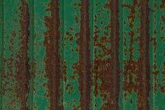 Abstrakt begrepp, bakgrund och textur för grön zinkgräsplan rostar backgr Royaltyfri Bild