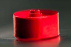 Abstrakt begrepp bakgrundsbild av rött papper röra sig i spiral på pappers- bakgrund Arkivfoto