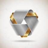 Abstrakt begrepp belägger med metall formar Arkivfoto