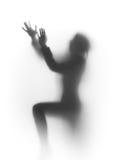 abstrakt begrepp ber silhouettekvinnan Royaltyfri Bild