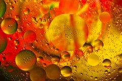 Abstrakt begrepp bevattnar färgar bakgrund Royaltyfri Fotografi