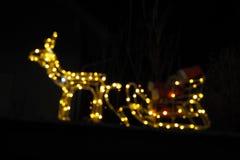 Abstrakt begrepp blinkade julbakgrund Fotografering för Bildbyråer
