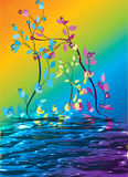 abstrakt begrepp blommar nätt Arkivfoto