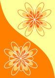 abstrakt begrepp blommar orange signaler Royaltyfri Foto
