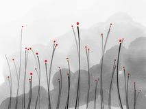 abstrakt begrepp blommar red Royaltyfri Foto