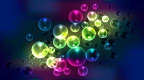 Abstrakt begrepp bubblar bakgrund Royaltyfria Foton