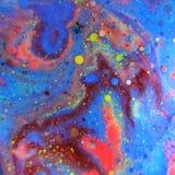 Abstrakt begrepp bubblar makro royaltyfria bilder