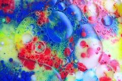 Abstrakt begrepp bubblar makro Arkivbilder