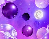 Abstrakt begrepp bubblar purpurfärgat universum Royaltyfria Foton