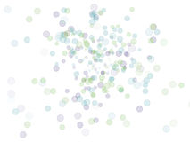 abstrakt begrepp bubbles färgrikt Arkivbild