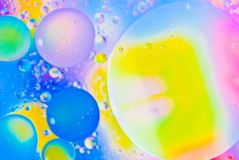 abstrakt begrepp bubbles färgrikt Royaltyfri Fotografi
