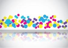 abstrakt begrepp bubbles färgrikt royaltyfri illustrationer