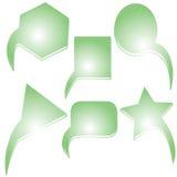 abstrakt begrepp bubbles grön text Arkivbilder