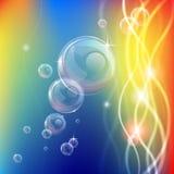 Abstrakt begrepp bubbles linjer och tänder bakgrund Royaltyfri Fotografi