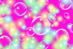 abstrakt begrepp bubbles tvål Arkivfoton