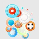Abstrakt begrepp cirklar stock illustrationer
