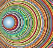 abstrakt begrepp cirklar den färgrika tunnelen Arkivbild