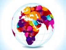 abstrakt begrepp cirklar det färgrika jordklotet stock illustrationer