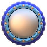 Abstrakt begrepp cirklar etiketten som isoleras på vitbakgrund. Stock Illustrationer