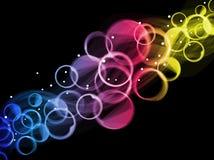 abstrakt begrepp cirklar färgrikt Arkivbilder
