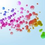 abstrakt begrepp cirklar färgrikt Royaltyfri Bild