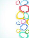 abstrakt begrepp cirklar färgrikt Royaltyfri Fotografi