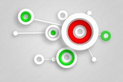 Abstrakt begrepp cirklar illustrationer Arkivbild