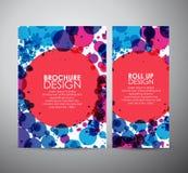 Abstrakt begrepp cirklar mallen för designen för bakgrundsbroschyraffären eller rullar upp Royaltyfria Bilder