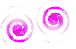 abstrakt begrepp cirklar purple Vektor Illustrationer