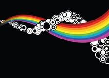 abstrakt begrepp cirklar regnbågen stock illustrationer