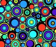 abstrakt begrepp cirklar retro Royaltyfri Bild