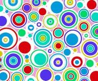 abstrakt begrepp cirklar retro Arkivfoton