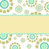 Abstrakt begrepp cirklar retro stilbakgrund med stället för text vektor illustrationer