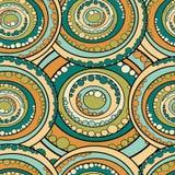 Abstrakt begrepp cirklar seamless mönstrar Royaltyfri Bild