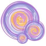 abstrakt begrepp cirklar vattenfärg Arkivfoto