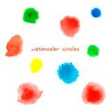 abstrakt begrepp cirklar vattenfärg Stock Illustrationer
