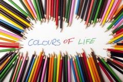 abstrakt begrepp colours text Royaltyfria Bilder