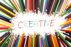 abstrakt begrepp colours text Arkivbilder