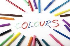 abstrakt begrepp colours text Arkivfoton