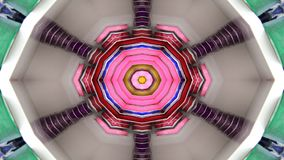 Abstrakt begrepp exploderar rörelse för kalejdoskopet för den släta modellen för begreppet för spridning symmetriska geometrisk d arkivfilmer