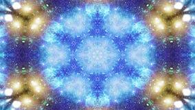 Abstrakt begrepp exploderar rörelse för kalejdoskopet för den släta modellen för begreppet för spridning symmetriska geometrisk d lager videofilmer