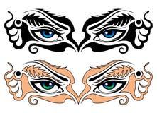 abstrakt begrepp eyes flickan Arkivbild