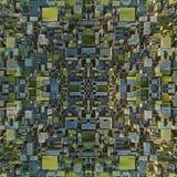 Abstrakt begrepp färgad futuristisk technomodell Digital 3d illustration Fotografering för Bildbyråer