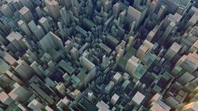 Abstrakt begrepp färgad futuristisk technomodell Digital 3d illustration vektor illustrationer