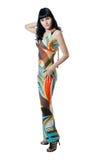 abstrakt begrepp färgad klänningflicka Arkivbild