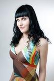 abstrakt begrepp färgad klänningflicka Royaltyfria Bilder