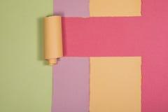 Abstrakt begrepp färgad pappers- bakgrundsmodell Royaltyfri Bild
