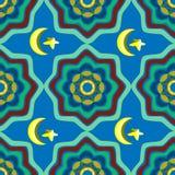 Abstrakt begrepp färgad sömlös modell i orientalisk stil Royaltyfria Bilder