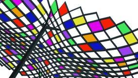 Abstrakt begrepp färgad takkonst Arkivfoton